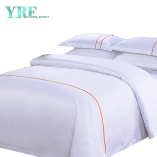 Discount billig weiß 4PCS Cotton Satin Hotels Bettwäsche Studentenwohnheim