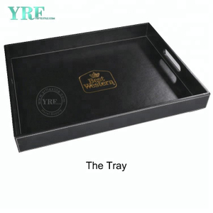 YRF Handgemachte Customized PU-Leder Serviertablett Hotel Amenity Tray Essen Tray Hotelbedarf